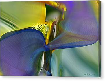Iris - Abstract Art Canvas Print by rd Erickson