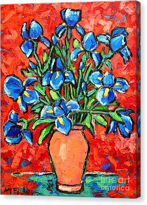 Iris Bouquet Canvas Print by Ana Maria Edulescu
