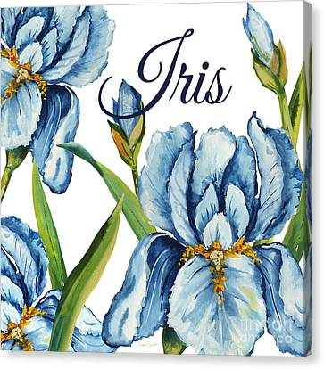 Flowers Names Canvas Print - Iris-jp2586 by Jean Plout