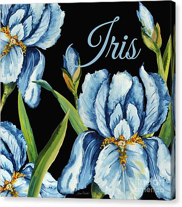 Flowers Names Canvas Print - Iris-jp2595 by Jean Plout