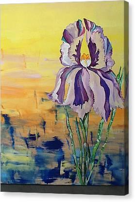 Iris Canvas Print by Karen Carnow