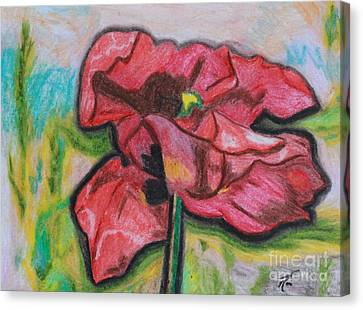 Iris Spring Canvas Print by Ayasha Loya