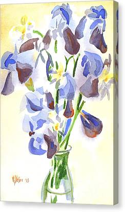 Irises Aglow Canvas Print by Kip DeVore