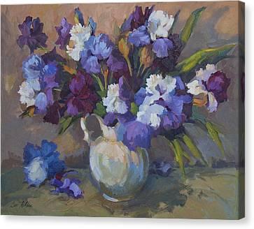 Irises Canvas Print by Diane McClary