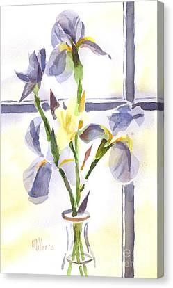 Irises In The Window II Canvas Print by Kip DeVore