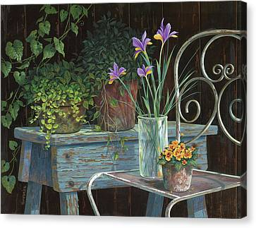 Irises Canvas Print by Michael Humphries