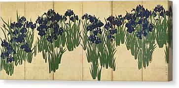 Irises Canvas Print by Ogata Korin