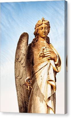 Irish Angel In Dublin Canvas Print