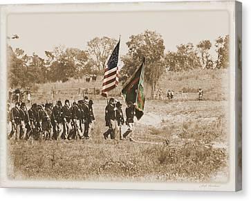 Canvas Print featuring the photograph Irish Brigade by Judi Quelland