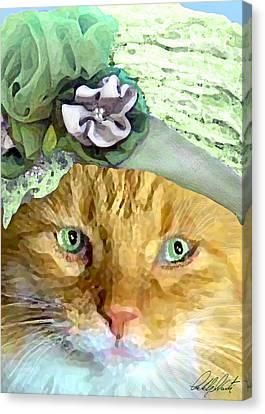 Irish Cat Canvas Print by Michele Avanti