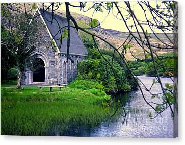 Irish Chapel Canvas Print by Ranjini Kandasamy