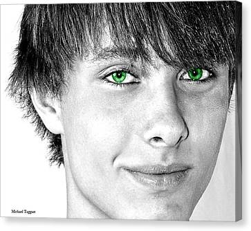 Irish Eyes Canvas Print by Michael Taggart