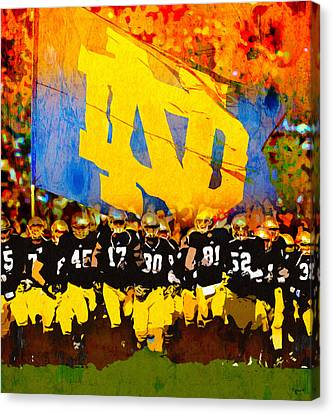 Player Canvas Print - Irish In Color by John Farr