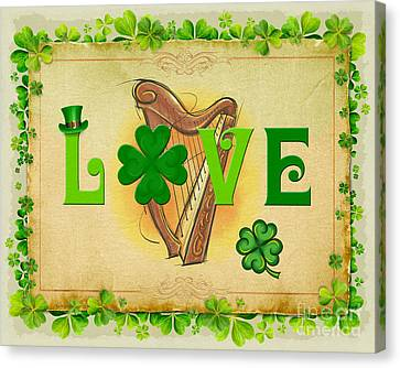 Irish Love Canvas Print by Bedros Awak