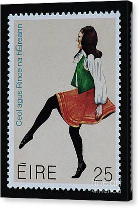 Irish Music And Dance Postage Stamp Print Canvas Print by Andy Prendy