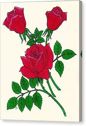 Irish Rose Canvas Print by D Hackett