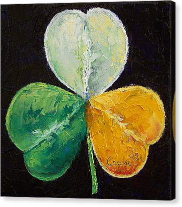 Irish Shamrock Canvas Print by Michael Creese