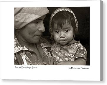 Canvas Print featuring the photograph Irma And Guadaloupe Santos by Tina Manley