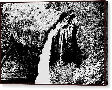 Iron Creek Falls Bw Canvas Print