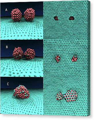 Defects Canvas Print - Iron-graphene Nanostructure Simulation by Center For Nanophase Materials Sciences, Ornl