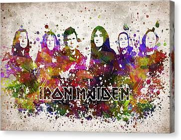 Iron Maiden In Color Canvas Print by Aged Pixel