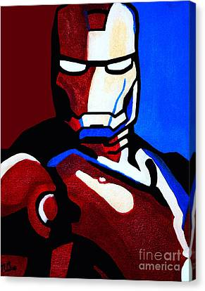 Iron Man 2 Canvas Print by Barbara McMahon