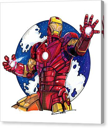 Iron Man Canvas Print by Dave Olsen