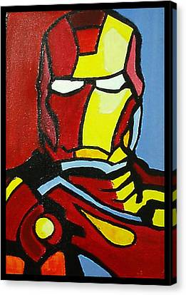 Iron Man Canvas Print by Ong Chii Huey