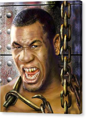 Iron Mike Tyson-no Blood No Glory 1a Canvas Print by Reggie Duffie