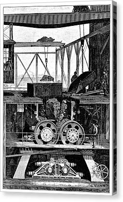 Iron Ore Crusher Canvas Print by Science Photo Library