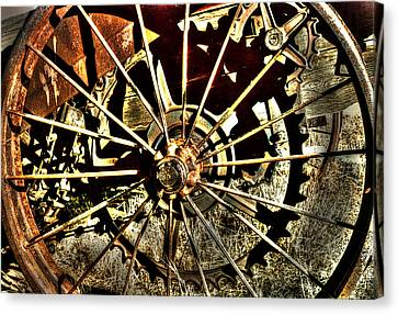 Iron Spokes Canvas Print by Craig T Burgwardt