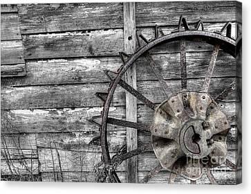 Iron Tractor Wheel Canvas Print