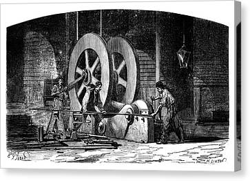 Iron-working Machinery Canvas Print by Science Photo Library