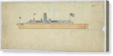 Ironclad Warship Css Virginia Canvas Print