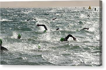 Ironman Canvas Print - Ironman 2012 Sheer Determination by Bob Christopher