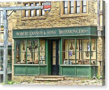 Canvas Print featuring the photograph Ironmongers In Candleford by Paul Gulliver