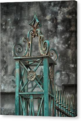 Ironwork In The Quarter Canvas Print by Brenda Bryant