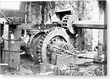 Machinery Canvas Print - Ironworking Forge Machinery by Hagley Museum And Archive