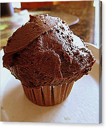 Irresistible Chocolate Cupcake Canvas Print