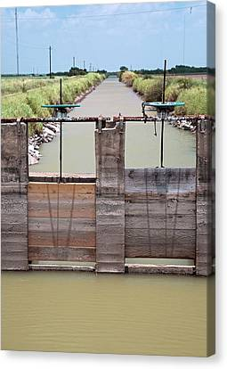 Irrigation Canal Canvas Print by Jim West