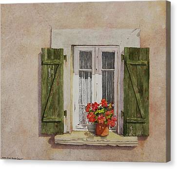 Irvillac Window Canvas Print