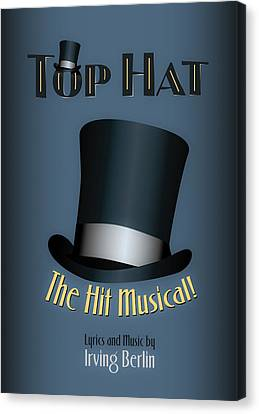Irving Berlin Top Hat Musical Poster Canvas Print