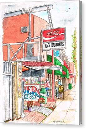 Irv's Burgers In West Hollywood, California Canvas Print