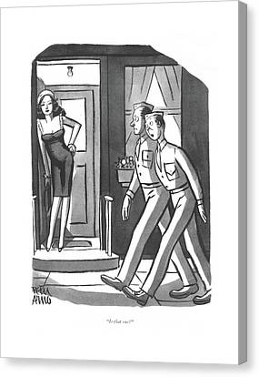 Is That One? Canvas Print by Peter Arno