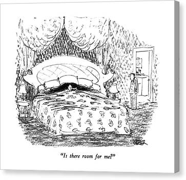 Bed Spread Canvas Print - Is There Room For Me? by Robert Weber