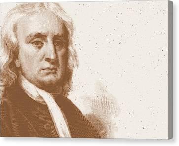 Isaac Newton Canvas Print by Detlev Van Ravenswaay