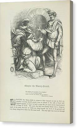 Isaac The Jew In The Dungeon Canvas Print by British Library