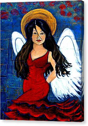 Isabella  A Spanish Earth Angel From Cultures Around The World Canvas Print by The Art With A Heart By Charlotte Phillips