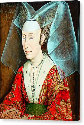 Isabella Of Portugal 1397-1471 Canvas Print