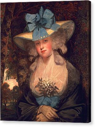 Isabella Seymour Conway, Viscountess Canvas Print by John Hoppner